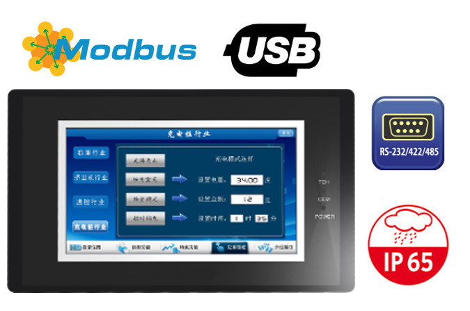 4.3 Inch HMI LCD Touch Screen Operator Panel 480x272 Remote Control On Lan