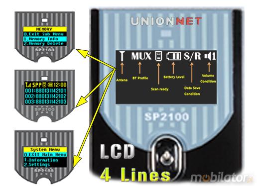 SP-2100 Mini Scanner 2D (CCD) Bluetooth